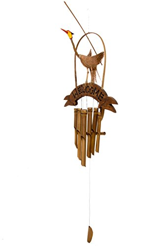 Ciffre Ca. 100cm Windspiel Klangspiel Eingangs Wind Spiel Welcome Vogel Handarbeit Fair Trade