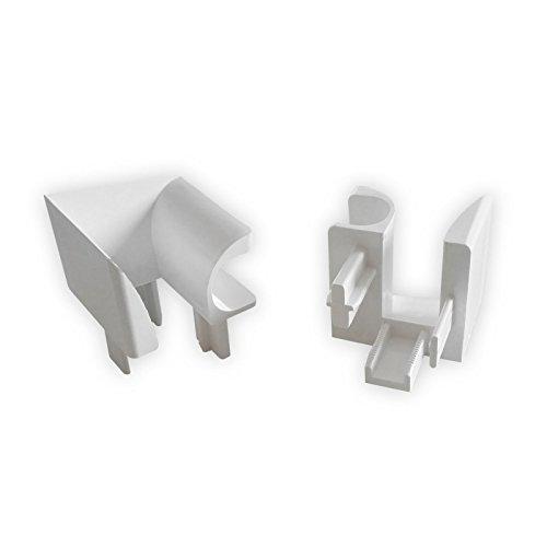 DIWARO.® Einlauftrichter für Aluplast Kunststoff Führungsschiene | weiß | aus Kunststoff | rechts & links