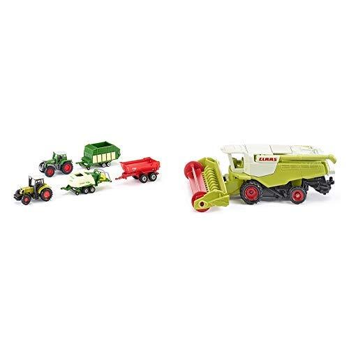 Siku 6286 - 5er Geschenkset 7 (sortiert) &  1476 - Claas Mähdrescher Fahrzeug