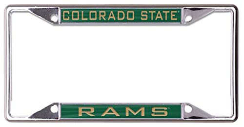 Wincraft Colorado State Rams Premium License Plate Frame, Chrome Plated