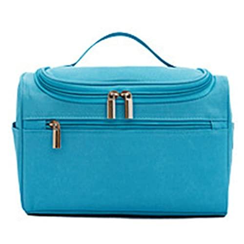 Bolsa de lavado multifuncional, Viajes Colgando Lavado Bolsa, Organizador Impermeable Ducha Aseo Bolso Colgante Cosméticos Gran Capacidad Bolsa de almacenamiento (Color : Blue)