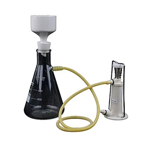 Braceletlxy Aparato de destilación de filtración de vacío de Laboratorio de Vidrio, Experimento de enseñanza física con Embudo y Bomba de filtrado de succión de Vidrio