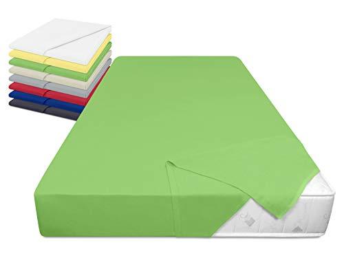 laken24 Haushaltstuch aus 100% Baumwolle - Betttuch ohne Spanngummi - ca. 150 x 250 cm - in 8, grün