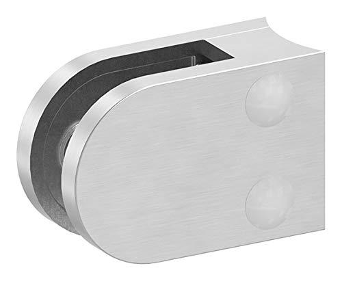 Glasklemme Modell 16, Anschluss für ø 33,7mm Rohr, V4A für 8,00mm Glas