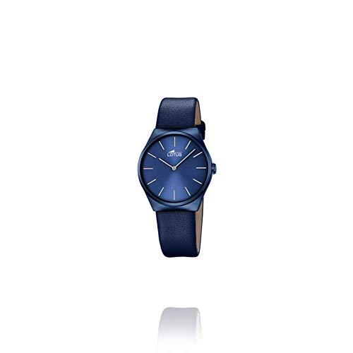 Lotus Watches Damen Uhr analog Quarzwerk mit Kautschuk Armband 18290/A