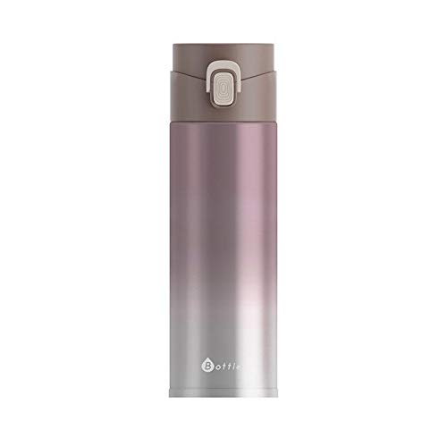 ZKN Fashion Portable Vacuum Cup Gradual Change Color 304 Stainless Steel Bounce Cover Thermos Cup 240ml Coffee