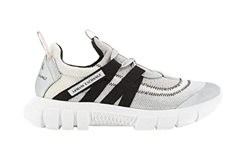 Armani Exchange Harlem New Extra Light Running, Sneaker Mujer, OP.White+Grey+Black, 39.5 EU