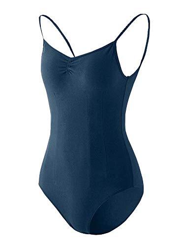 Black Temptation Costume de Gymnastique Femme Dancewear Combinaison de survêtement Ballet Topwear Court Blue