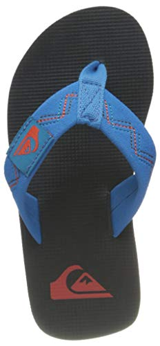 Quiksilver Molokai STITCHY Youth Flip-Flop, Blue/Grey/Blue, 28 EU