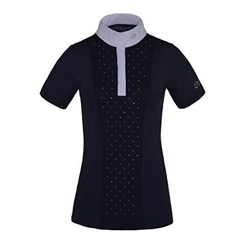 Kingsland Damen Turnierbluse KL_TRIORA, Show Shirt mit Kristallen, Turniershirt Farbe Navy, Größe S