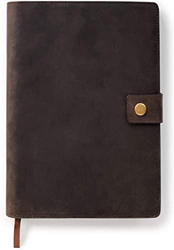 Funda para Diario Recargable de Piel de Grano Completo de Primera Calidad con Cuaderno A5 de Case Elegance