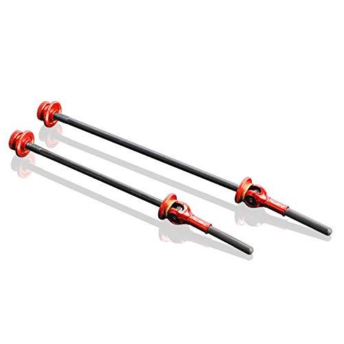 Fesjoy 2 unidades de bujes de liberación rápida para rueda delantera y trasera de bicicleta, compatible con bicicletas de carreras de montaña