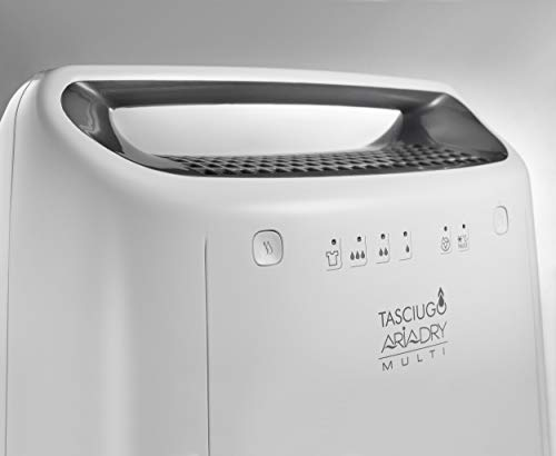 De'Longhi DEX212F Tasciugo AriaDry Deumidificatore Ambiente Casa, 300 W, 12 Litri, 37 Decibel, Plastica, Bianco
