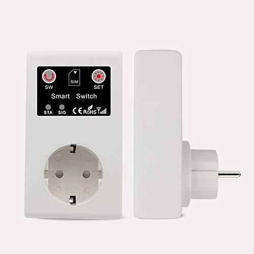 KKmoon Enchufe inteligente GSM Enchufe de energía Toma de corriente inteligente llamada SMS APP interruptor de control remoto bomba router electrodoméstico tomas Enrutador Aparato eléctrico Enchufes