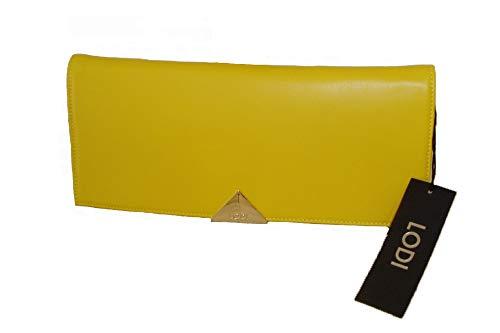 Zapatos Nieves Martín Lodi L912, Bolso de mano california limón, cierre imán, cadena dorada para colgar