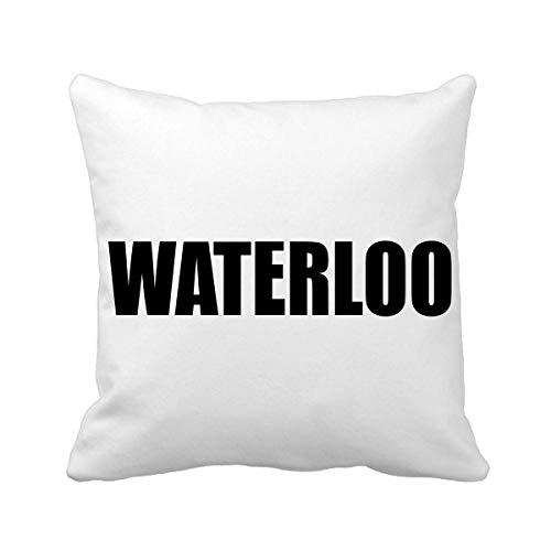 DIYthinker Waterloo België Stad Naam Plein Gooi Kussen Invoegen Kussen Cover Thuis Bank Decor Gift