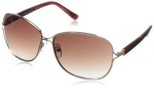O by Oscar de la Renta Eyewear SSC4029 – anteojos de sol cuadradas para mujer, Oro y bayas., 174 mm