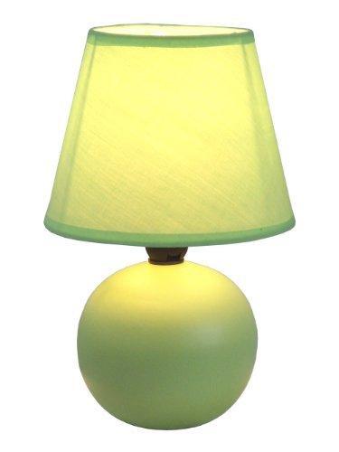 Simple Designs LT2008-GRN Mini Ceramic Globe Table Lamp, Green