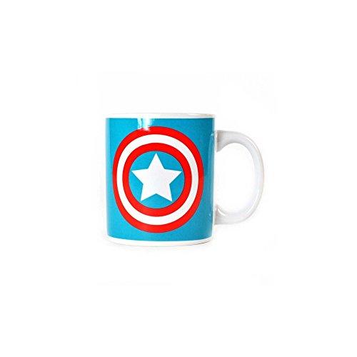 Marvel Comics Captain America Boxed Mug en céramique Shield Logo officiel