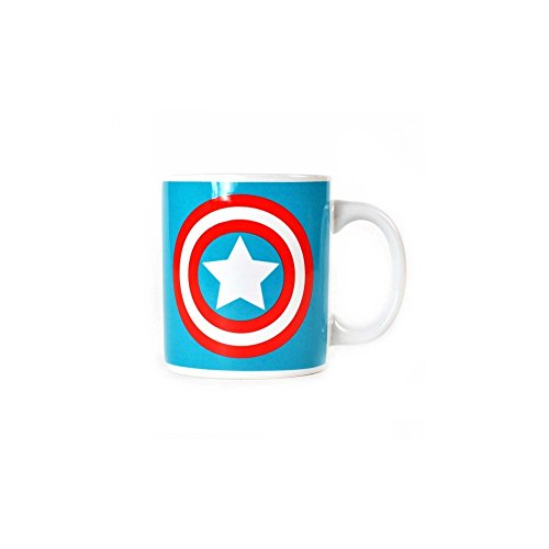Marvel Comics Captain America Boxed Mug en céramique Shield Logo officiel