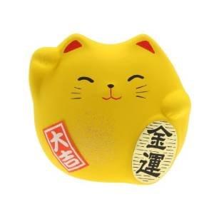 JAPAN CRAFT Maneki Neko - Gato de la suerte, color amarillo