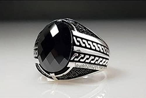 Black Onyx Ring Signet Ony Oklahoma City El Paso Mall Mall Genuine Checker Cut