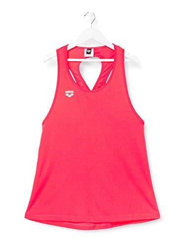 ARENA Camiseta de Tirantes para Mujer, Mujer, Camiseta de Tirantes, 001591, Rojo Fluorescente, Extra-Large