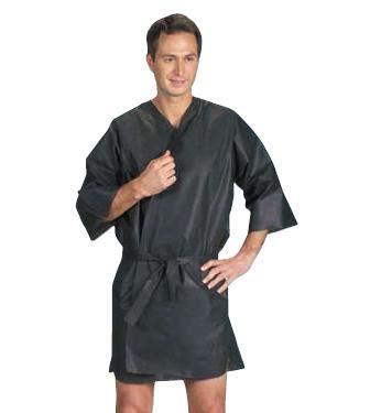 Kimono negro desechable TNT 10 unidades