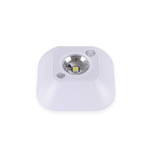MIFO 人感LEDライト 明暗 センサー搭載 昼白色 小型 自動点灯 ガレージ 廊下 寝室 階段 トイレなどに設置 30秒点灯 省エネセンサーライト (ホワイト)