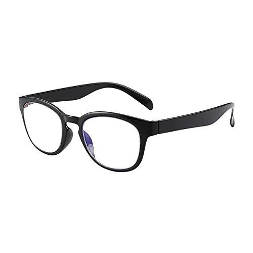 HAOXUAN Gafas de Lectura Vintage, Lente de Resina Anti-luz Azul, Memoria de Marco de plástico, Gafas de Lectura antifatiga dioptrías a 1,00 + 3,00, Azul, 2,00