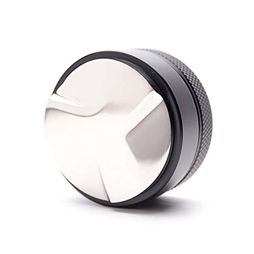 CCHAO 1 STÜCKE Praktische 51mm Edelstahl Kaffee Tamper Base Kaffeebohne Presse Hammer Kaffee Verteiler Küchenwerkzeug (Color : Black)