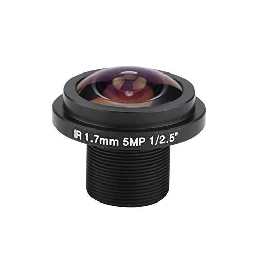 Aukson Lente de cámara de Ojo de pez, 185 Grados HD Lente de 5 megapíxeles Lente de Ojo de pez de 5MP HD de 1,7 mm para cámara de Seguridad de Ojo de pez