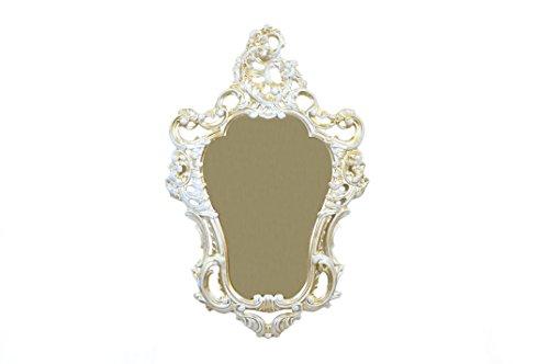 Idee Casa wit en goud spiegel nep vintage barok spiegel Venetiaanse stijl 75X49 cm