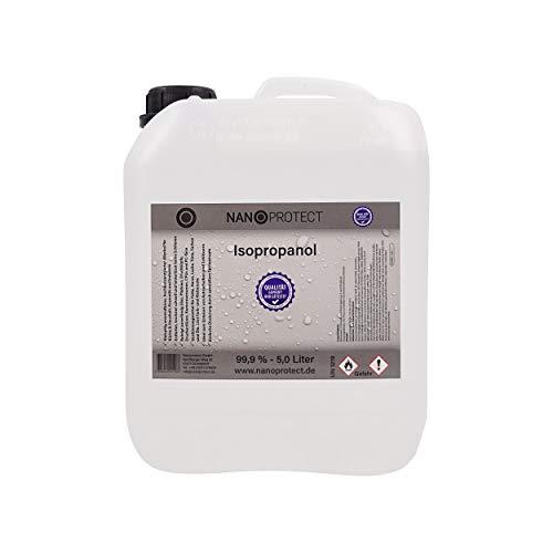 Nanoprotect Isopropanol 99,9% | 1 x 5 Liter Kanister | Hygienereiniger | IPA Spezial Reiniger | Reinigungsalkohol in Premium Qualität