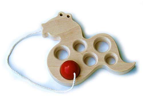 ▶︎へびけん (おもしろケン玉 木のおもちゃ) 木育
