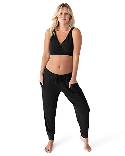Kindred Bravely Everyday Maternity Joggers/Lounge Pants for Women (Black, Large)