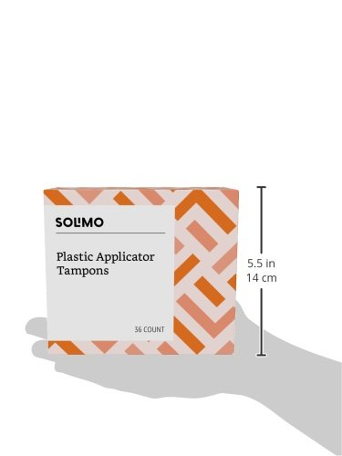 Amazon Brand - Solimo Plastic Applicator Tampons, Super Plus Absorbency, Unscented, 36 Count, 1 Pack