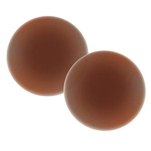 Gmumu Silicone Nipple Covers Reusable Adhesive Breast Petals Pasties for Dark Skin - 3 Pairs Brown