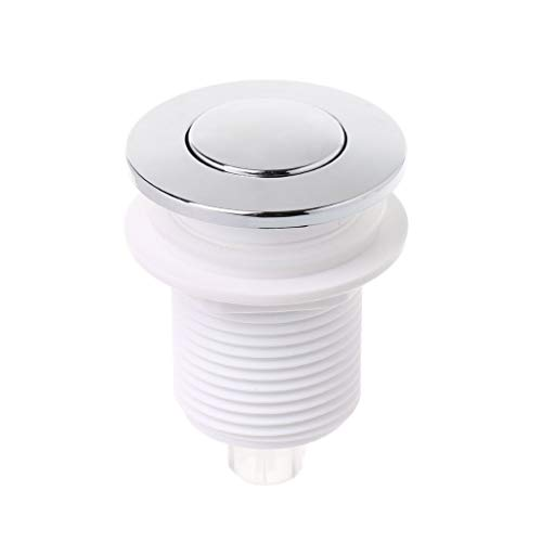 JOYKK Botón de Interruptor de Aire de 32 mm para el Interruptor de eliminación de Basura de Basura de SPA de bañera - Blanco