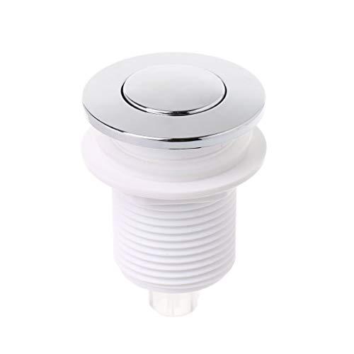 JOYKK 32mm Druckluftschalter-Taste für Badewanne-Abfallentsorgungsschalter - Weiß