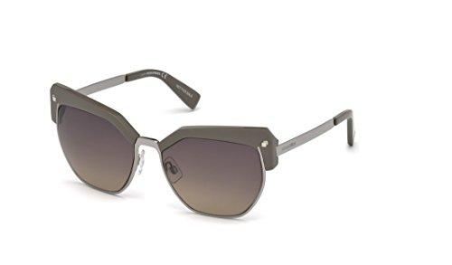 DSQUARED2 DQ0253 57B 56 Monturas de gafas, Beige (Beige LucFumo Grad), 56.0 Unisex Adulto