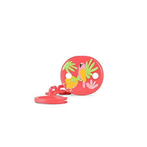Suavinex Broche Pinza de Chupetes Para Bebés +0 Meses, Cadena Chupetes Bebé, Rosa