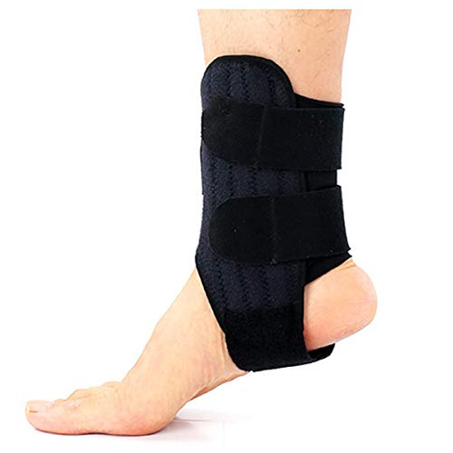 meacom 2 PCS Elastische Knöchelbandage, Sport Fußbandage Sprunggelenkbandage Fußgelenkstütze mit Klettverschluss und Elastisch Gurt Knöchelschutz für Sport und Verstauchungen ( L )