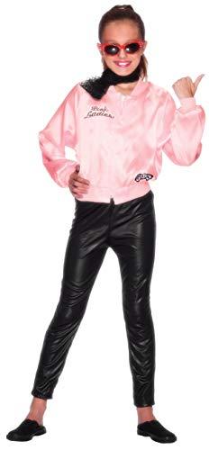 Smiffys Licenciado oficialmente Veste Grease Pink Ladies, Rose, avec logo