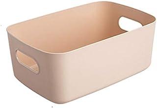 HHuin Boîte de rangement en plastique de bureau pour produits cosmétiques, boîte de rangement, panier de rangement pour di...