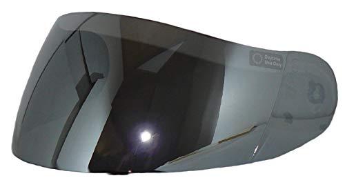 Protectwear visière de rechange, pour casque de moto H510, argenté miroir, convenant à toutes les tailles de casque, taille unique