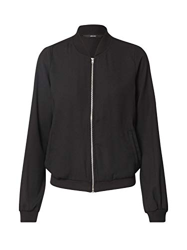 VERO MODA Damen VMISABEL L/S Bomber Jacket Color Jacke, Black, XS