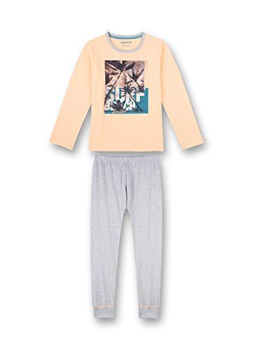 Sanetta Jungen Schlafanzug lang rosa Pyjamaset, neon Melon, 176