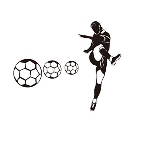Adesivi murali serie calcio murale ragazzo camera da letto calcio club soggiorno portico decorazione PVC adesivi impermeabili adesivi per finestre poster 88 * 57cm
