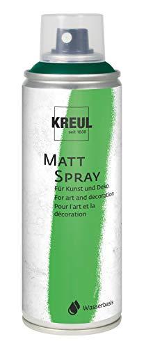 Kreul 76324 - Farbspray, klassisch matte Sprühfarbe auf Wasserbasis, hochpigmentiert und wasserfest, styropofest, für Innen und Außen, 200 ml, grün